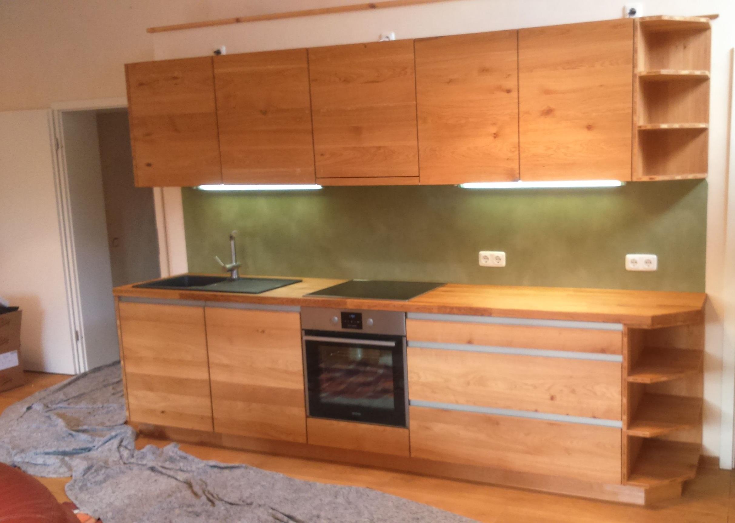green Wood Küchenzeile